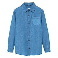 Buy Mango Kids Boys' Polka Denim Shirt, Blue Online at johnlewis.com