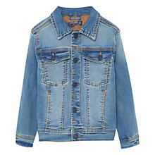 Buy Mango Kids Boys' Washed Denim Jacket, Blue Online at johnlewis.com