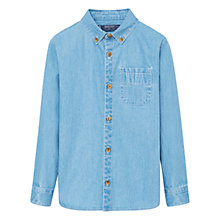Buy Mango Kids Boys' Pocket Denim Shirt, Light Blue Online at johnlewis.com