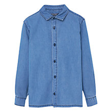 Buy Mango Kids Boys' Denim Shirt, Light Blue Online at johnlewis.com
