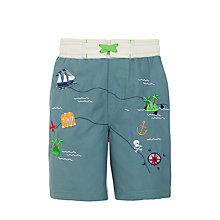 Buy John Lewis Boys' Nautical Board Shorts, Blue Online at johnlewis.com