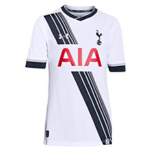 Buy Under Armour Tottenham Hotspur 2015/16 Junior Home Shirt, White Online at johnlewis.com