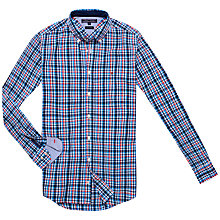 Buy Tommy Hilfiger Finny Checked Shirt, Dutch Navy Online at johnlewis.com
