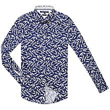 Buy Tommy Hilfiger Foliage Print Shirt, Navy Online at johnlewis.com