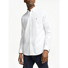 Buy Polo Ralph Lauren Oxford Shirt, White Online at johnlewis.com