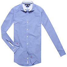 Buy Tommy Hilfiger Terence Dobby Dot Slim Fit Shirt, Shirt Blue Online at johnlewis.com