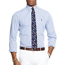 Buy Polo Ralph Lauren Cotton Poplin Shirt, Blue Online at johnlewis.com