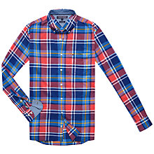 Buy Tommy Hilfiger Axel Check Shirt, Cranberry/Dutch Navy Online at johnlewis.com