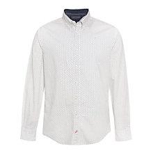 Buy Tommy Hilfiger Bas Geometric Print Shirt, Classic White/Peacoat Online at johnlewis.com