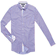 Buy Tommy Hilfiger Payson Stripe Shirt, Shirt Blue/Tomato Online at johnlewis.com