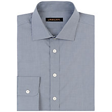 Buy Jaeger Dobby Fine Stripe Modern Fit Shirt, Grey Online at johnlewis.com