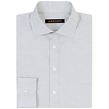 Buy Jaeger Herringbone Modern Fit Shirt, Light Grey Online at johnlewis.com