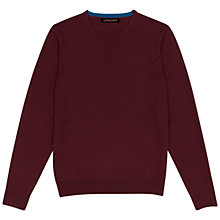 Buy Jaeger Gostwyck Merino Crew Neck Jumper, Red Online at johnlewis.com