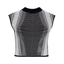 Buy Ted Baker Benee Ribbed Cropped Jumper, Black Online at johnlewis.com