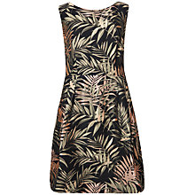 Buy Ted Baker Louryn Palm Jacquard Dress, Black Online at johnlewis.com