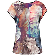 Buy Ted Baker Rihanna Techincolour Bloom T-Shirt, Mid Grey Online at johnlewis.com