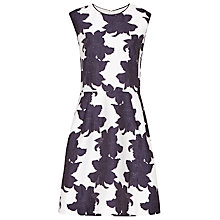 Buy Reiss Edie Jacquard Dress, Off White/Night Online at johnlewis.com