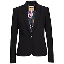 Buy Ted Baker Ricki Techno Crepe Suit Jacket, Black Online at johnlewis.com