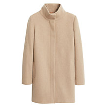 Buy Mango Funnel Neck Coat, Medium Brown Online at johnlewis.com