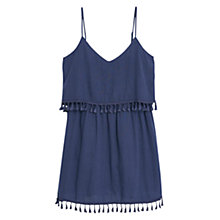 Buy Mango Double Layer Dress, Medium Blue Online at johnlewis.com