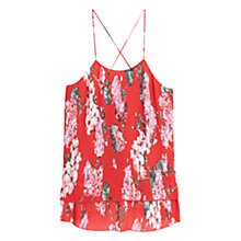 Buy Mango Double Layer Print Top, Coral Pink Online at johnlewis.com