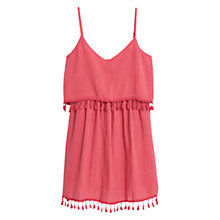 Buy Mango Double Layer Fringe Dress, Red Coral Online at johnlewis.com