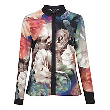 Buy Ted Baker Ainslie Technicolour Bloom Shirt, Black Online at johnlewis.com