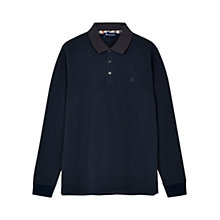 Buy Aquascutum Preston Long Sleeve Pique Polo Shirt Online at johnlewis.com