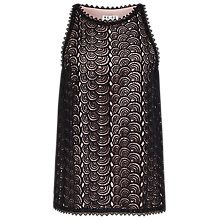 Buy Reiss Lace Sleeveless Top, Black and White Online at johnlewis.com