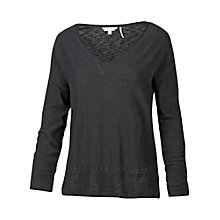 Buy Fat Face Pointelle V-Neck Jumper Online at johnlewis.com