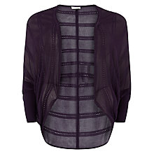 Buy Windsmoor Cocoon Cardigan, Dark Purple Online at johnlewis.com