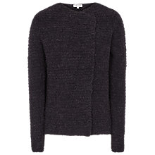 Buy Reiss Dakota Waterfall Knit Cardigan, Night Navy Online at johnlewis.com