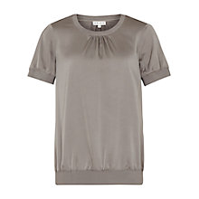 Buy Reiss Kathryn Short Sleeved Top, Bamboo Online at johnlewis.com