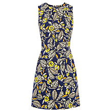 Buy Warehouse 70s Leaf Shift Dress, Multi Online at johnlewis.com