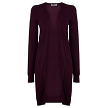 Buy Oasis Longline Edge To Edge Cardigan, Burgundy Online at johnlewis.com