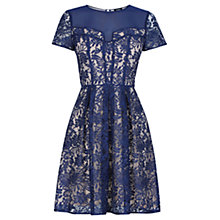 Buy Oasis Lucy Lace Skater Dress, Navy Online at johnlewis.com
