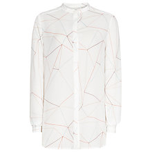 Buy Reiss 1971 Mistle Printed Shirt, White Online at johnlewis.com