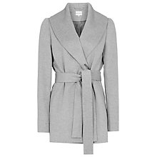 Buy Reiss Sila Shawl Coat, Soft Grey Melange Online at johnlewis.com