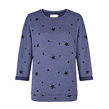 Buy Collection WEEKEND by John Lewis Star Print Sweatshirt, Indigo Online at johnlewis.com