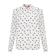 Buy Collection WEEKEND by John Lewis Horse Print Blouse, White/Navy Online at johnlewis.com