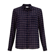 Buy Collection WEEKEND by John Lewis Woven Check Shirt, Navy/Pink Online at johnlewis.com
