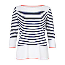 Buy Collection WEEKEND by John Lewis Breton Stripe T-Shirt, White/Navy Online at johnlewis.com
