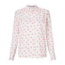Buy Collection WEEKEND by John Lewis Horse Print Blouse, White/Pink Online at johnlewis.com