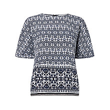 Buy Collection WEEKEND by John Lewis Navajo Print Top, Blue/White Online at johnlewis.com