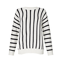 Buy Collection WEEKEND by John Lewis Stripe Jumper, Ivory/Navy Online at johnlewis.com