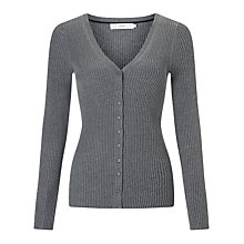 Buy John Lewis Rib Stitch V-Neck Cardigan Online at johnlewis.com