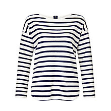 Buy Collection WEEKEND by John Lewis Textured Stripe Top Online at johnlewis.com