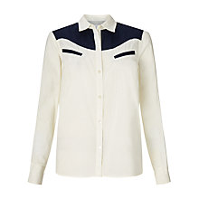 Buy Collection WEEKEND by John Lewis Western Shirt, Cream/Navy Online at johnlewis.com