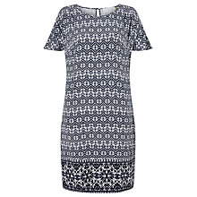 Buy Collection WEEKEND by John Lewis Navajo Print Dress, Blue/White Online at johnlewis.com