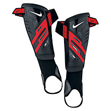 Buy Nike Youth Protegga Shield Shin Guards, Black/Red Online at johnlewis.com